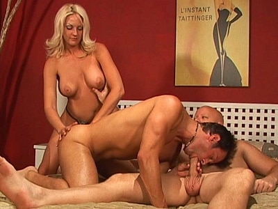 Busty blond Bisexual Threesome